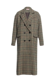 Renamed Clothing Long Plaid Coat - Product Mini Image