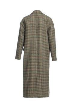 Renamed Clothing Long Plaid Coat - Alternate List Image