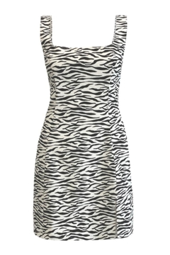 Renamed Clothing Marian Zebra Mini Dress - Alternate List Image