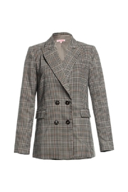 Renamed Clothing Plaid Bf Blazer - Product Mini Image