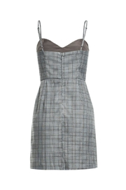 Renamed Clothing Plaid Spaghetti Strap Dress - Front full body
