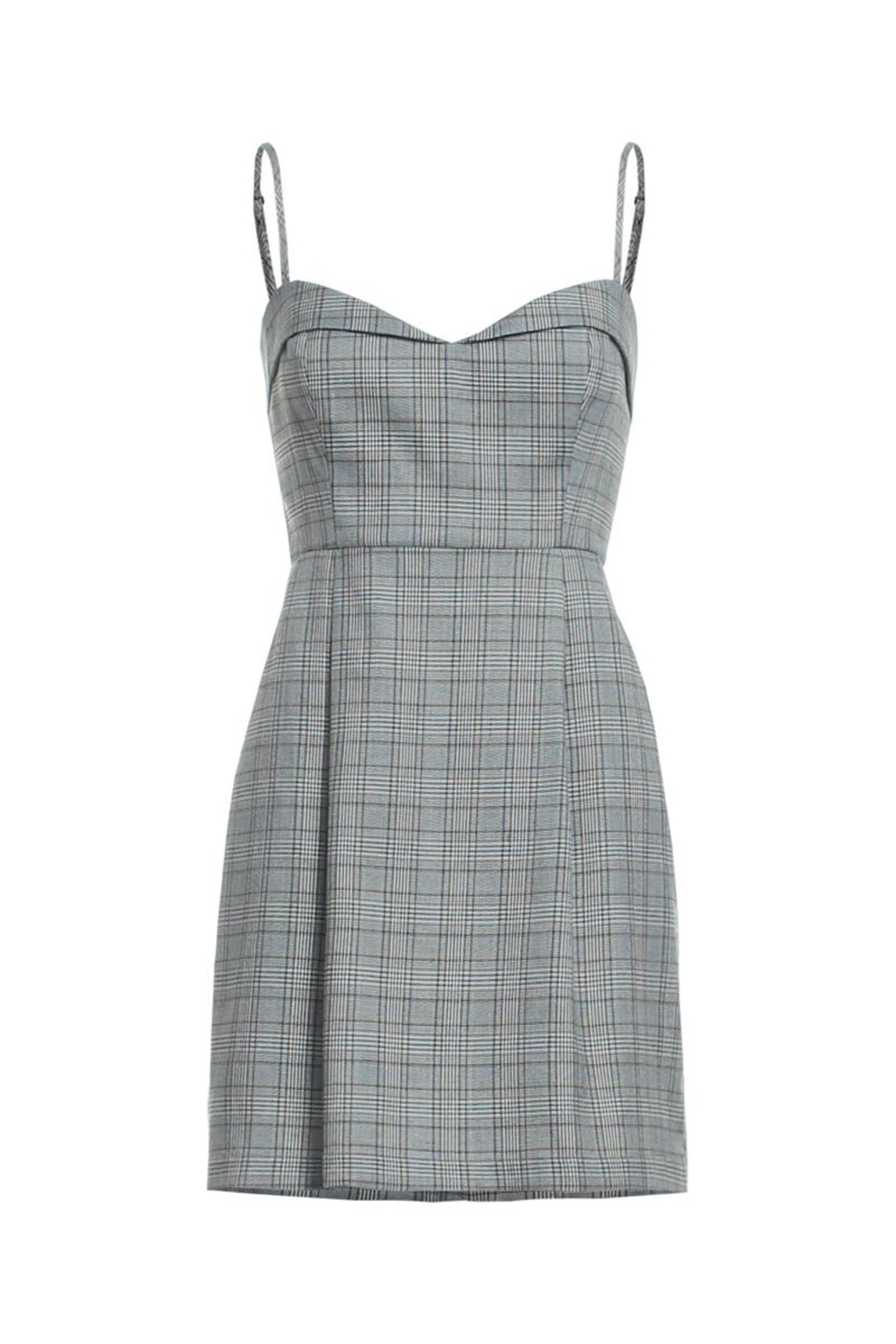 Renamed Clothing Plaid Spaghetti Strap Dress - Main Image
