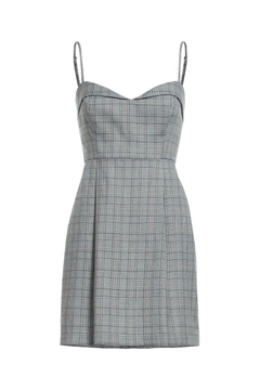 Shoptiques Product: Plaid Spaghetti Strap Dress