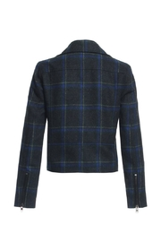 Renamed Clothing Plaid Motto Jacket - Front full body