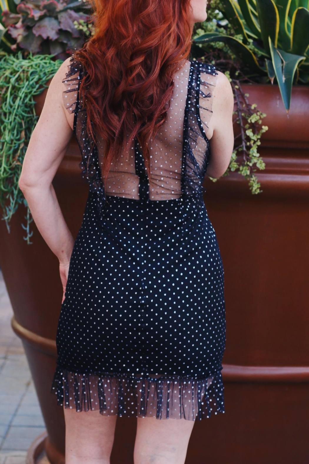Renamed Clothing Ruffle Sparkly Dress - Front Full Image