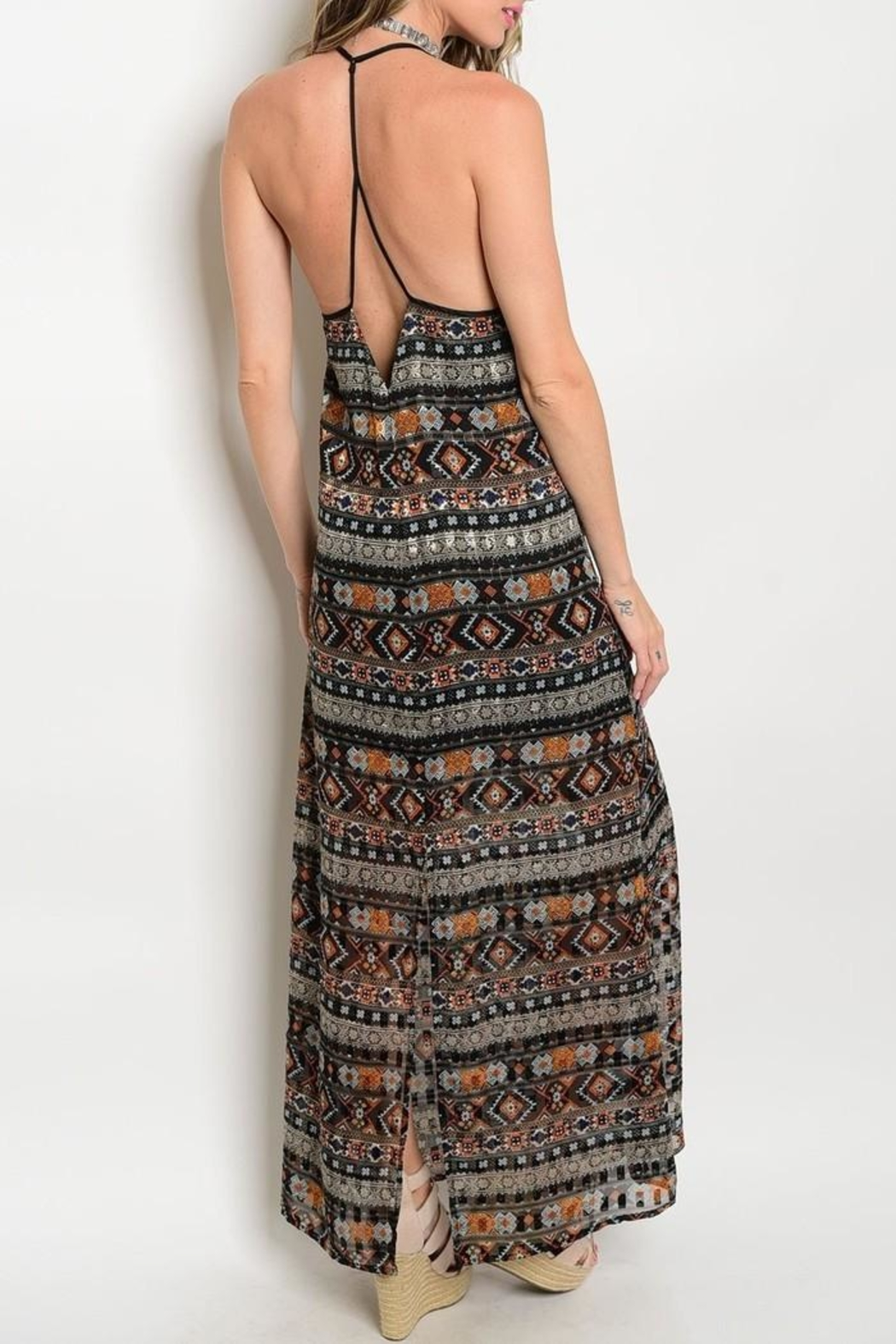 Renamed Clothing Tribal Maxi Dress - Front Full Image
