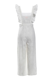 Renamed Clothing White Ruffle Jumpsuit - Front full body