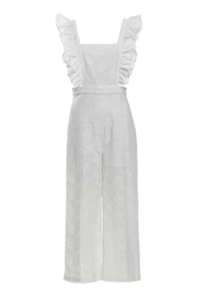 Renamed Clothing White Ruffle Jumpsuit - Product Mini Image