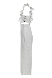 Renamed Clothing White Ruffle Jumpsuit - Side cropped