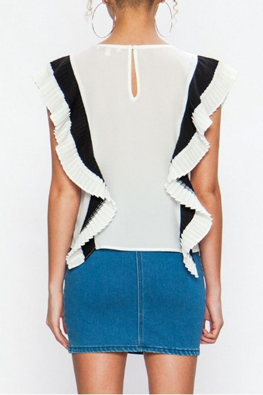 Flying Tomato Renata Pleated Top - Front Full Image