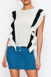 Flying Tomato Renata Pleated Top - Product Mini Image