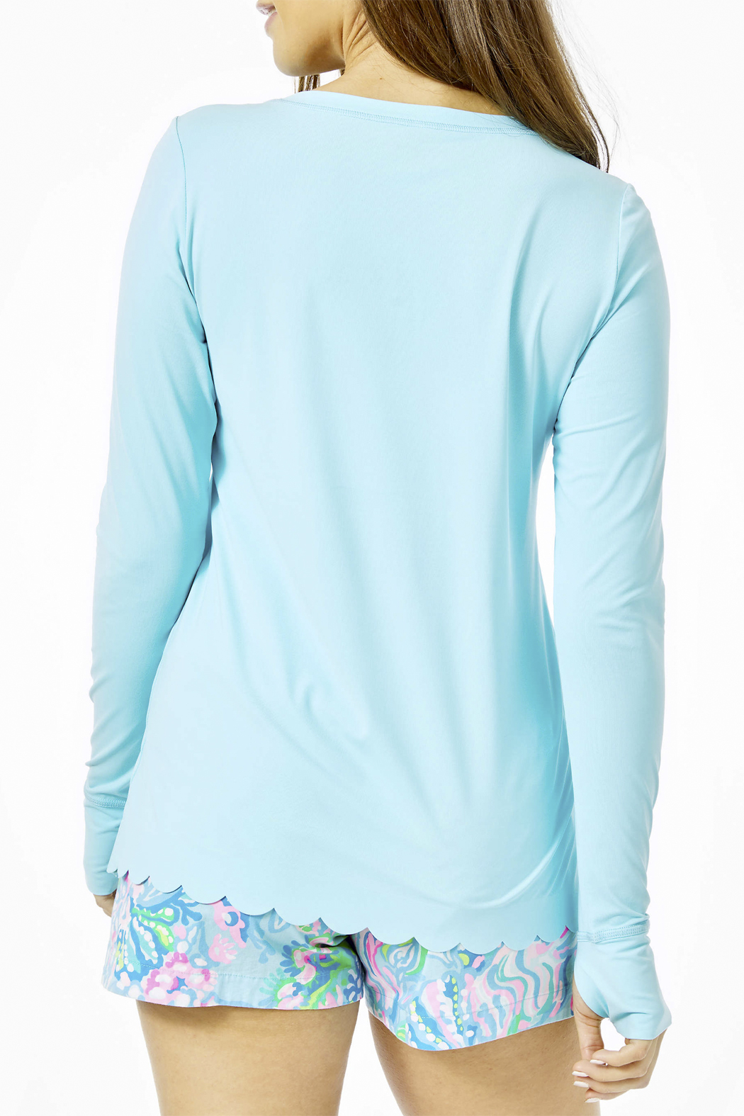 Lilly Pulitzer Renay Scallop Sunguard Luxletic UPF 50+ - Front Full Image