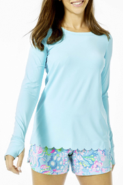 Lilly Pulitzer Renay Scallop Sunguard Luxletic UPF 50+ - Product Mini Image