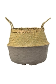 RENDR Grey Seagrass Basket - Front cropped