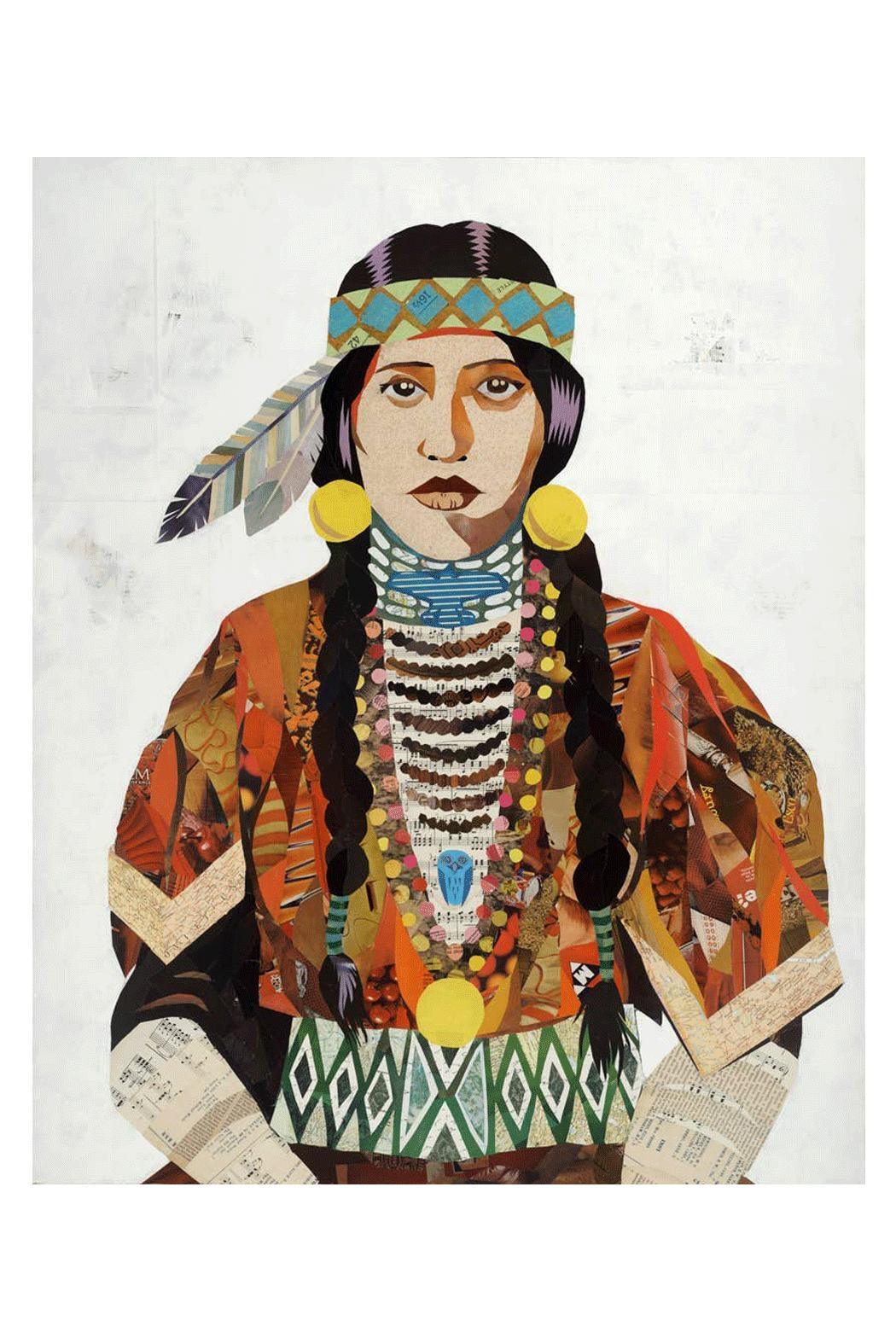 RENDR Indian Woman Print - Front Cropped Image