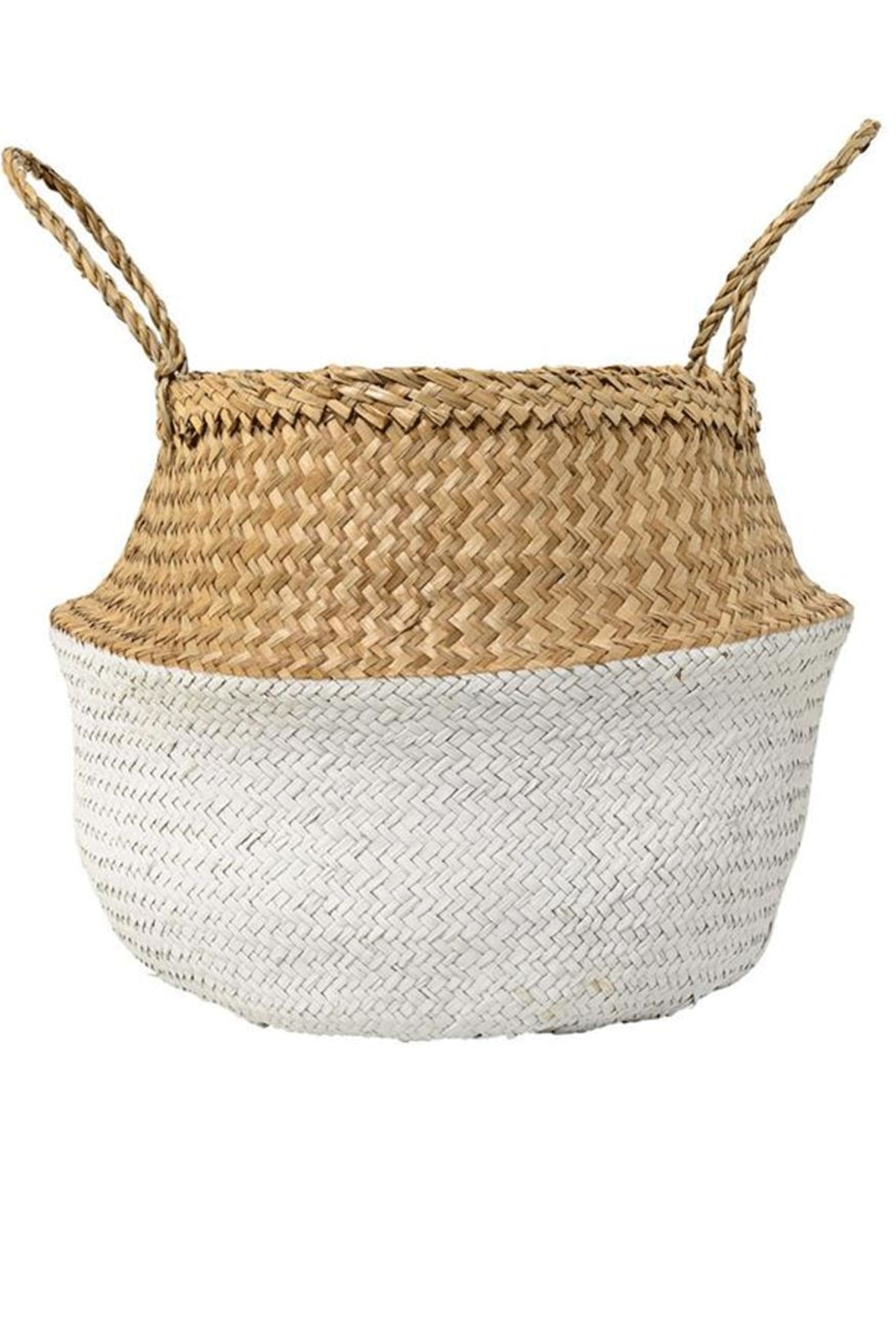 RENDR Large White Basket - Front Cropped Image