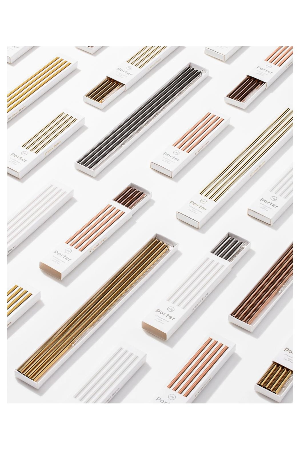 RENDR Stainless Cocktail Straws - Front Full Image