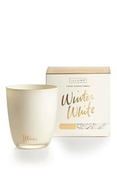 Shoptiques Product: Winter White Glass Candle