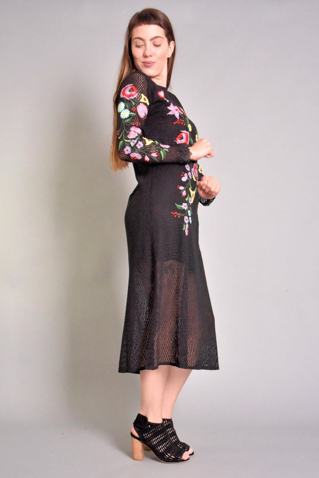 Rene Derhy Bastia Embroidered Dress - Front Full Image