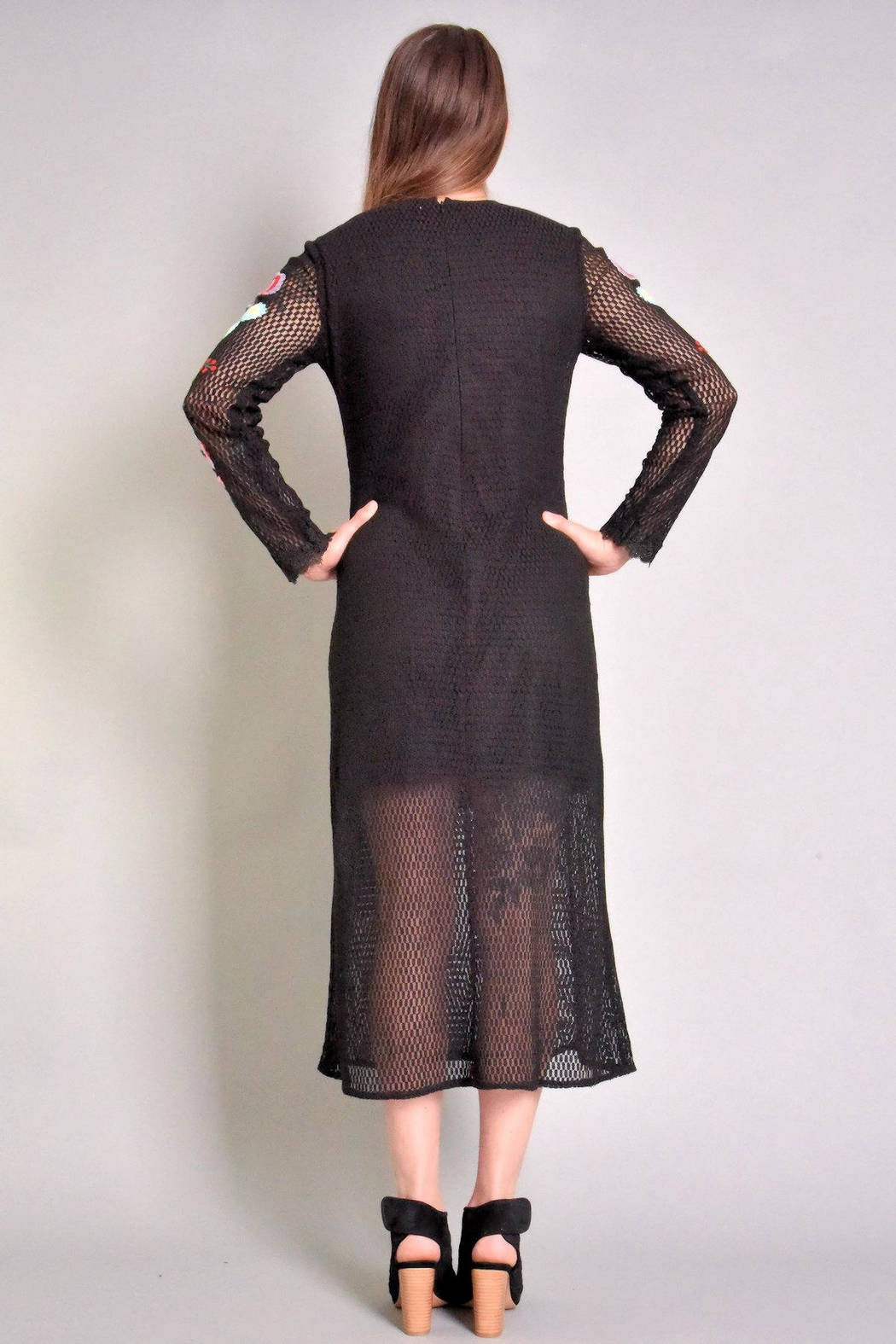 Rene Derhy Bastia Embroidered Dress - Side Cropped Image