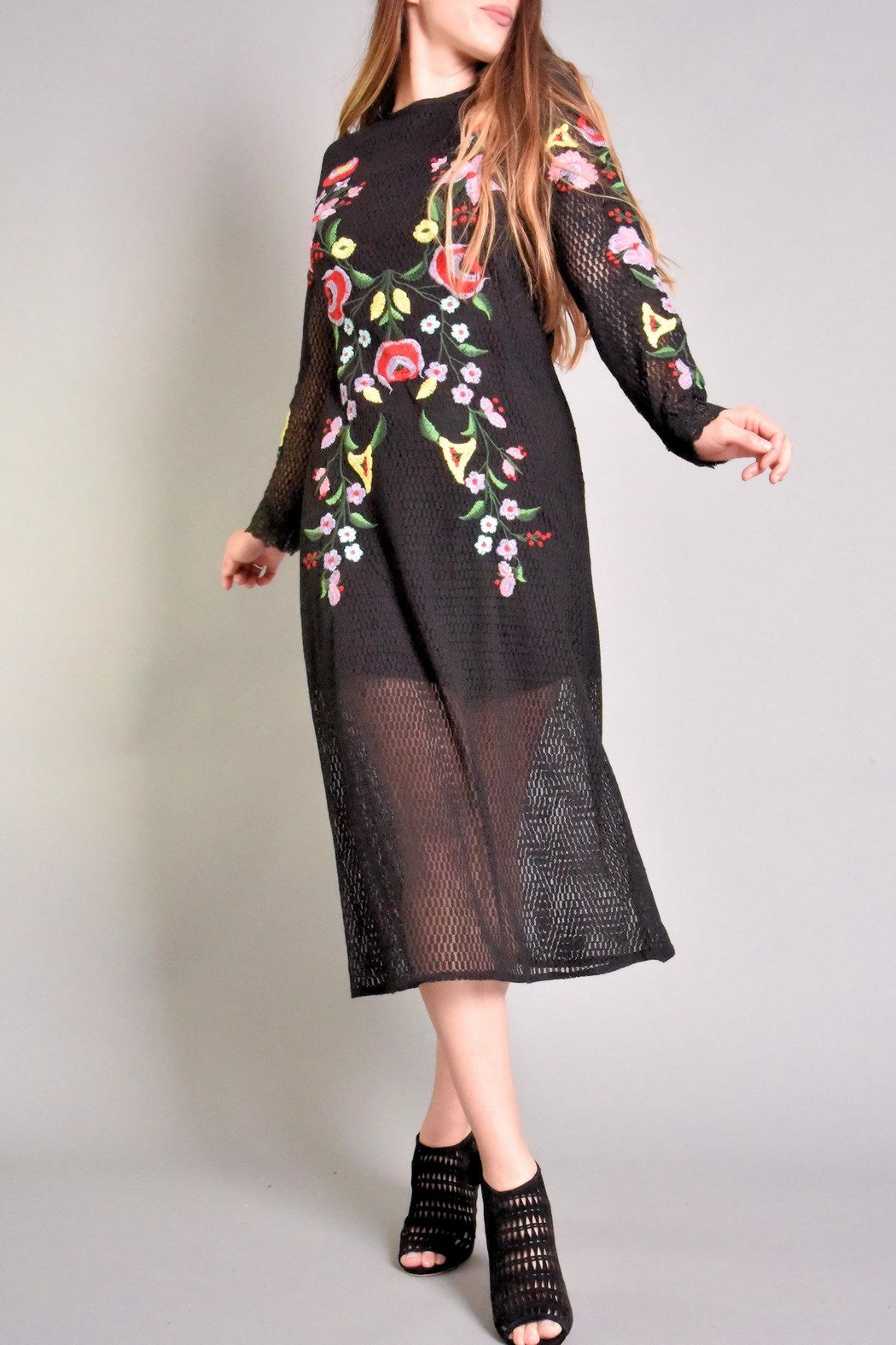 Rene Derhy Bastia Embroidered Dress - Front Cropped Image