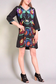 Rene Derhy Delta Embroidered Dress - Product Mini Image