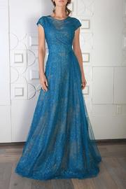 Rene Ruiz Cap Sleeve Gown - Product Mini Image