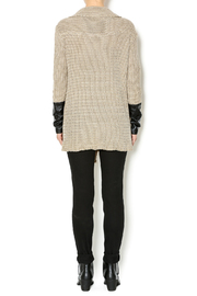Renee C. Beige Heavy Knit Sweater - Side cropped