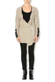 Renee C. Beige Heavy Knit Sweater - Front full body