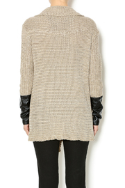 Renee C. Beige Heavy Knit Sweater - Back cropped