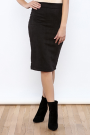 Renee C Black Suede Skirt - Product Mini Image