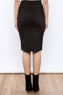 Renee C Black Suede Skirt - Alternate List Image