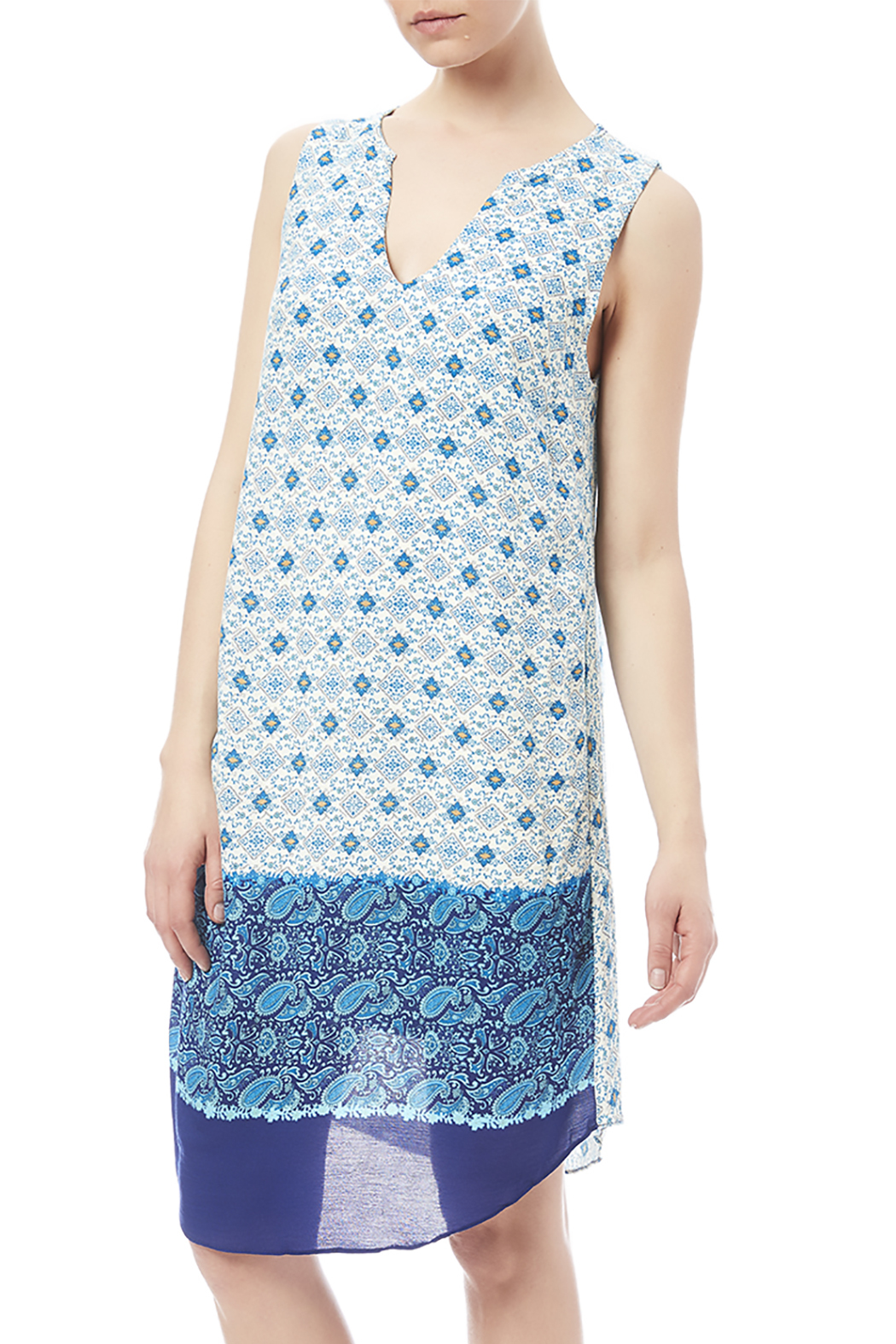 Renee C Grecian Summer Shift Dress - Front Cropped Image