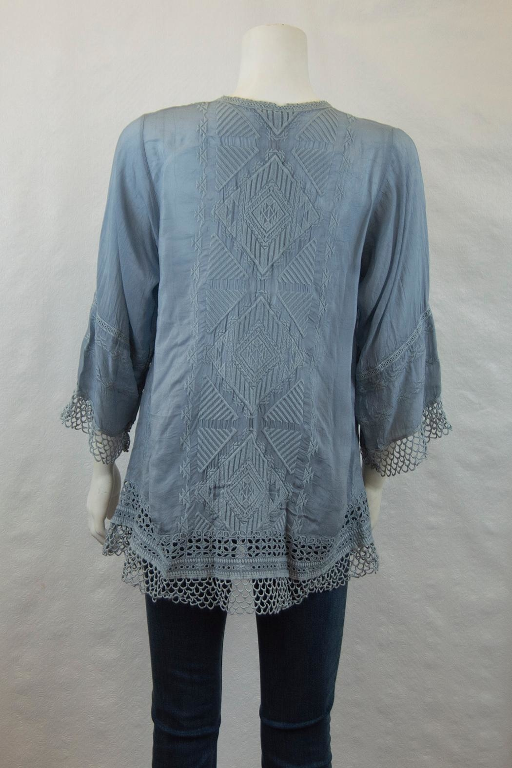 Johnny Was Collection Renee Lace Blouse - Front Full Image