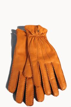 Shoptiques Product: Orange Leather Gloves