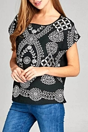 Renee C Boatneck Embroidery Top - Product Mini Image