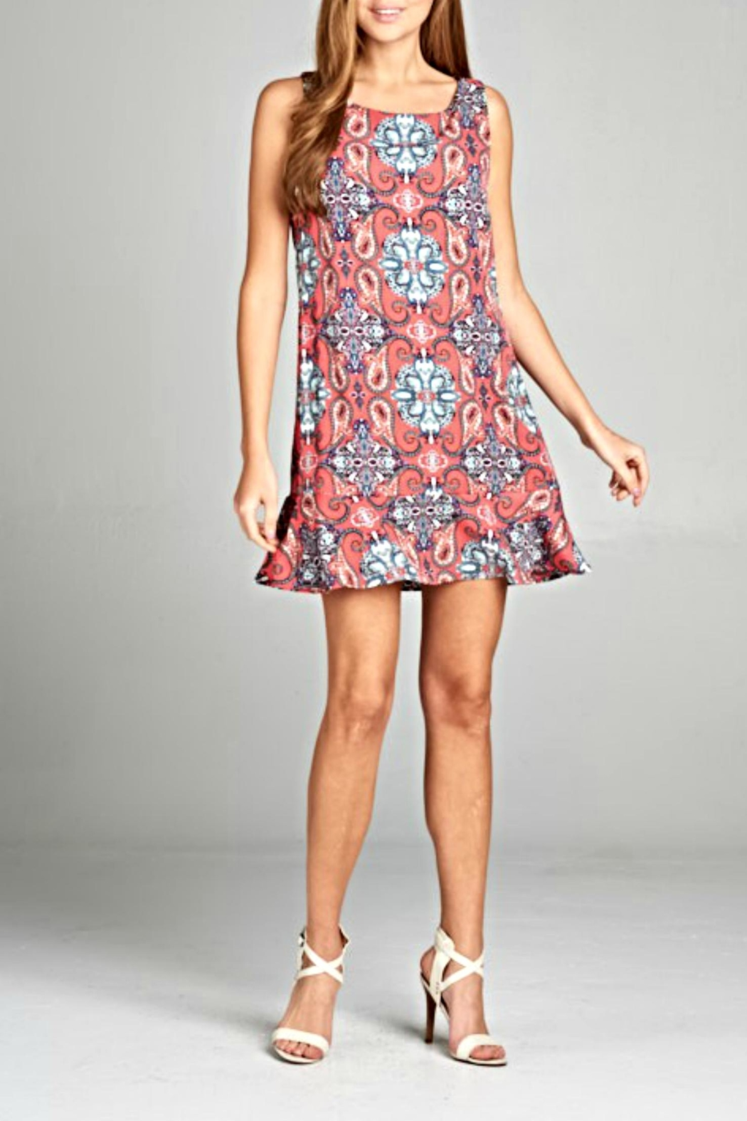 Renee C Boho Ruffle Dress - Main Image