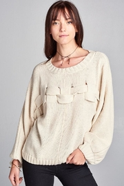 Renee C Braided Sweater - Product Mini Image