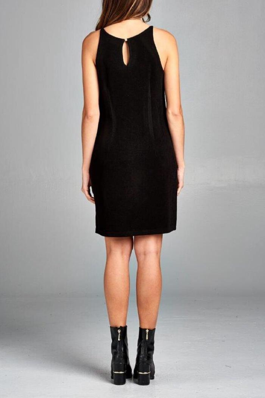 Renee C Transformed Black Dress - Front Full Image