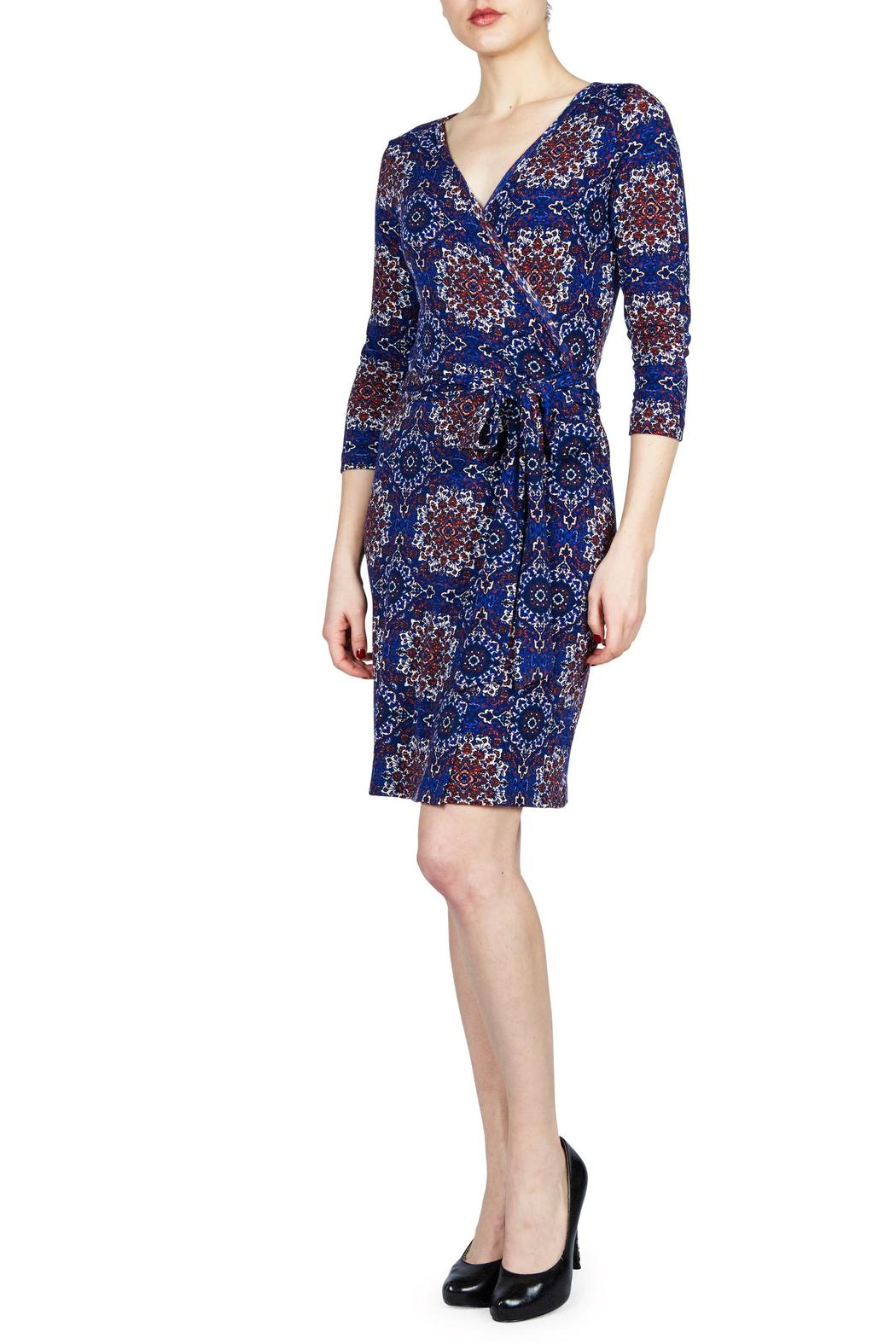 Renee C Faux Wrap Dress - Front Cropped Image