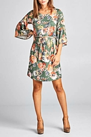 Renee C Floral Bellsleeve Dress - Product Mini Image