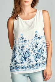 Renee C Floral Embroidered Tank - Product Mini Image