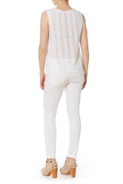 Renee C Lace Trim Top - Front full body