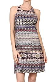 Renee C Morocan Print Dress - Product Mini Image