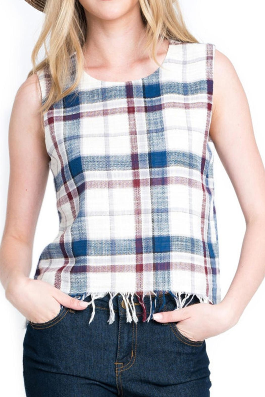 Renee C Plaid Rustic Tank - Main Image