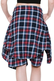 Renee C Plaid Shorts - Back cropped