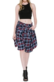 Renee C Plaid Shorts - Front full body