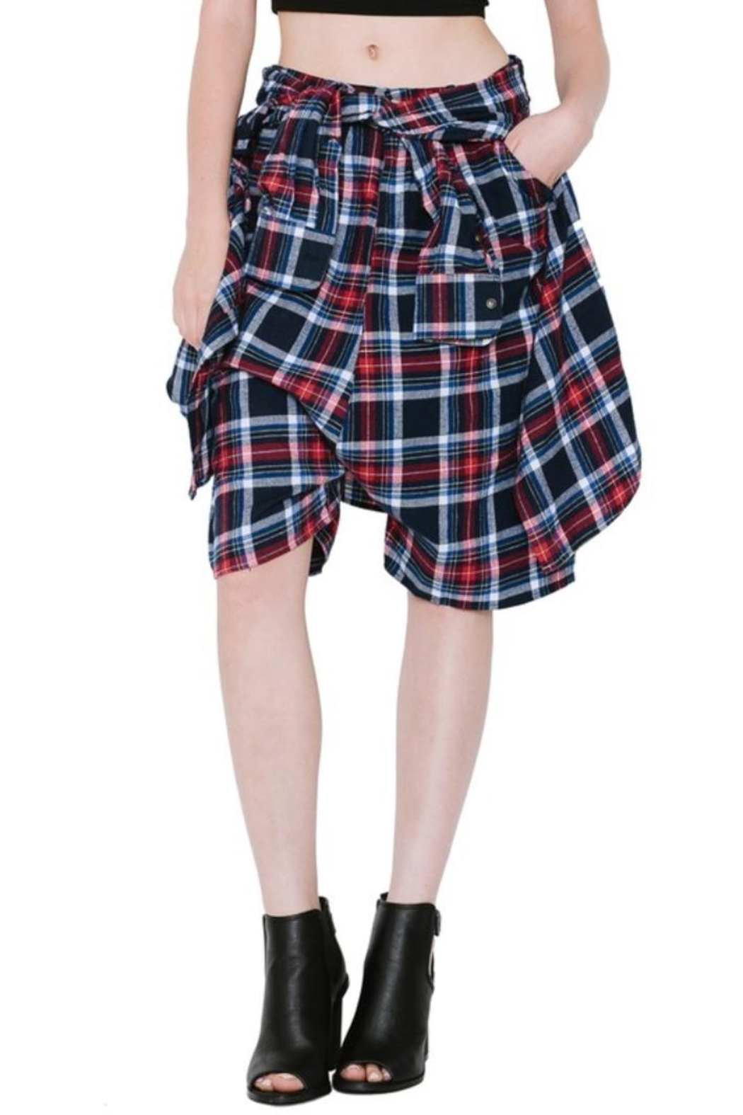 Renee C Plaid Shorts - Main Image