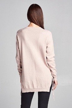 Renee C Side Tie Sweater - Alternate List Image