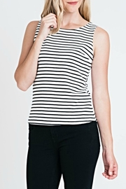 Renee C Stripe Fitted Top - Product Mini Image